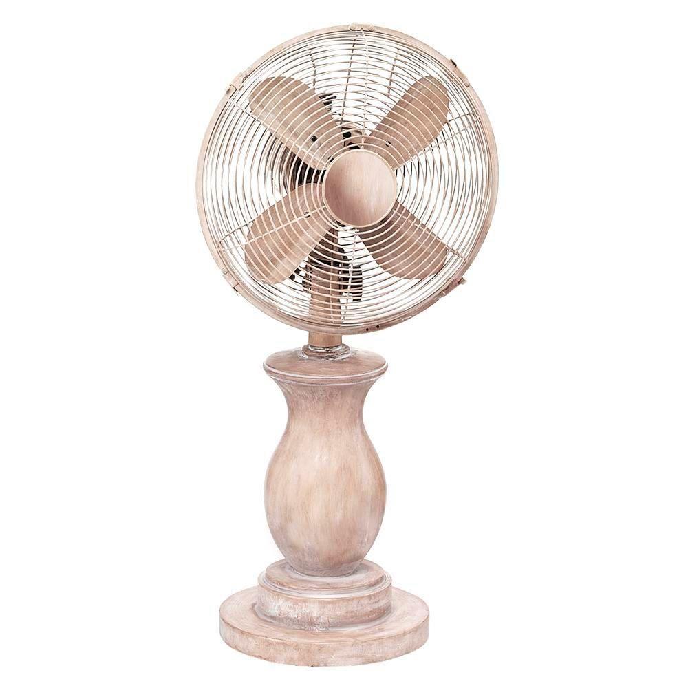Deco Breeze 11 5 In Serene Table Fan Metallics Table Fan Vintage Farmhouse Style Fan