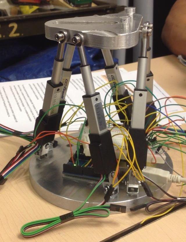 Stewart Platform utilizing Arduino and Firgelli | Electronics, Etc on