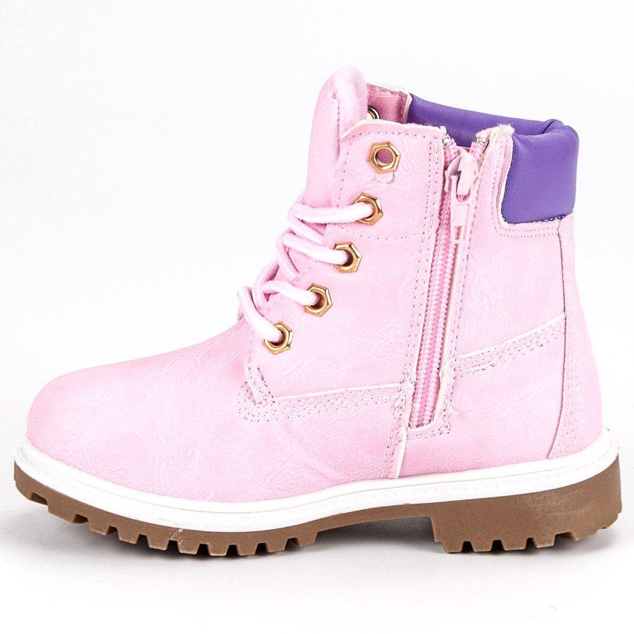 Kozaki Dla Dzieci Butymodne Rozowe Traperki Myszka Miki Boots Timberland Boots Shoes