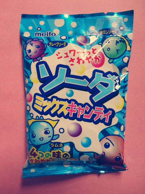 Japanese Candy Meito Soda Fizzy Once You Pop Them Into Your Mouth You Can Taste