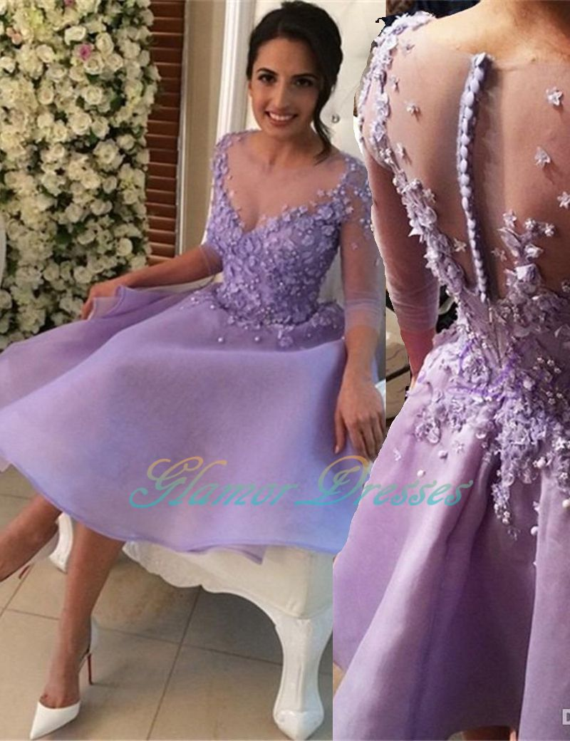 Prom Dresses, Long Sleeves Prom Gowns, Short Prom