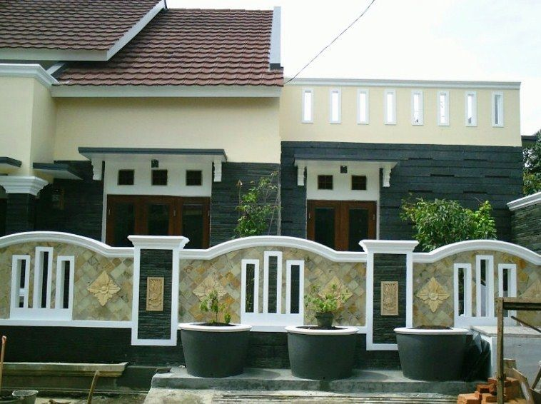 Model Pagar Tembok Minimalis Cantik Dan Unik Denah Rumah