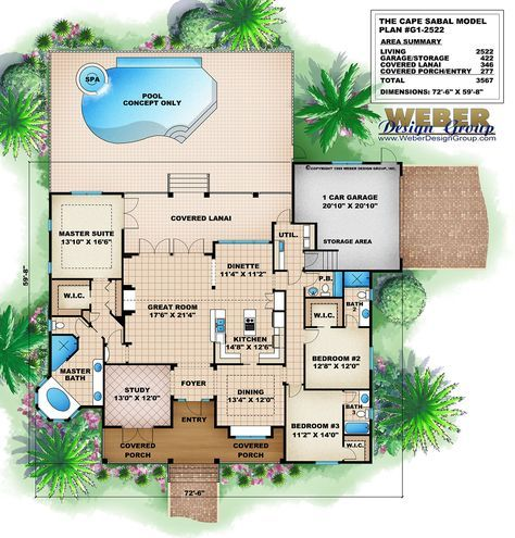 Beach House Plan Old Florida Style Home Floor Plan With Porch Pool Mediterranean House Plans Mediterranean Floor Plans Florida House Plans