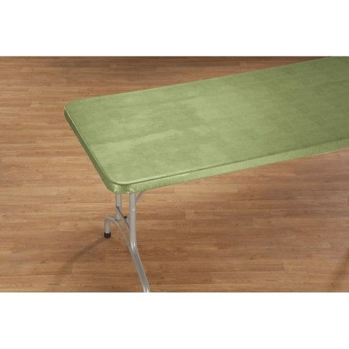 Illusion Weave Vinyl Elasticized Banquet Table Cover By Hsk 48 X 24 Oblong Vinyl Table Covers Table Covers Banquet Tables