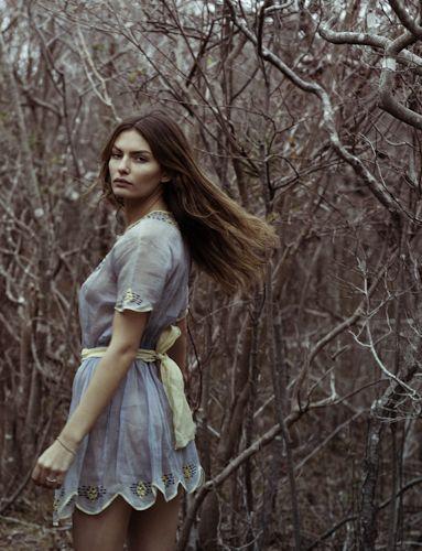 Pretty dress & background.