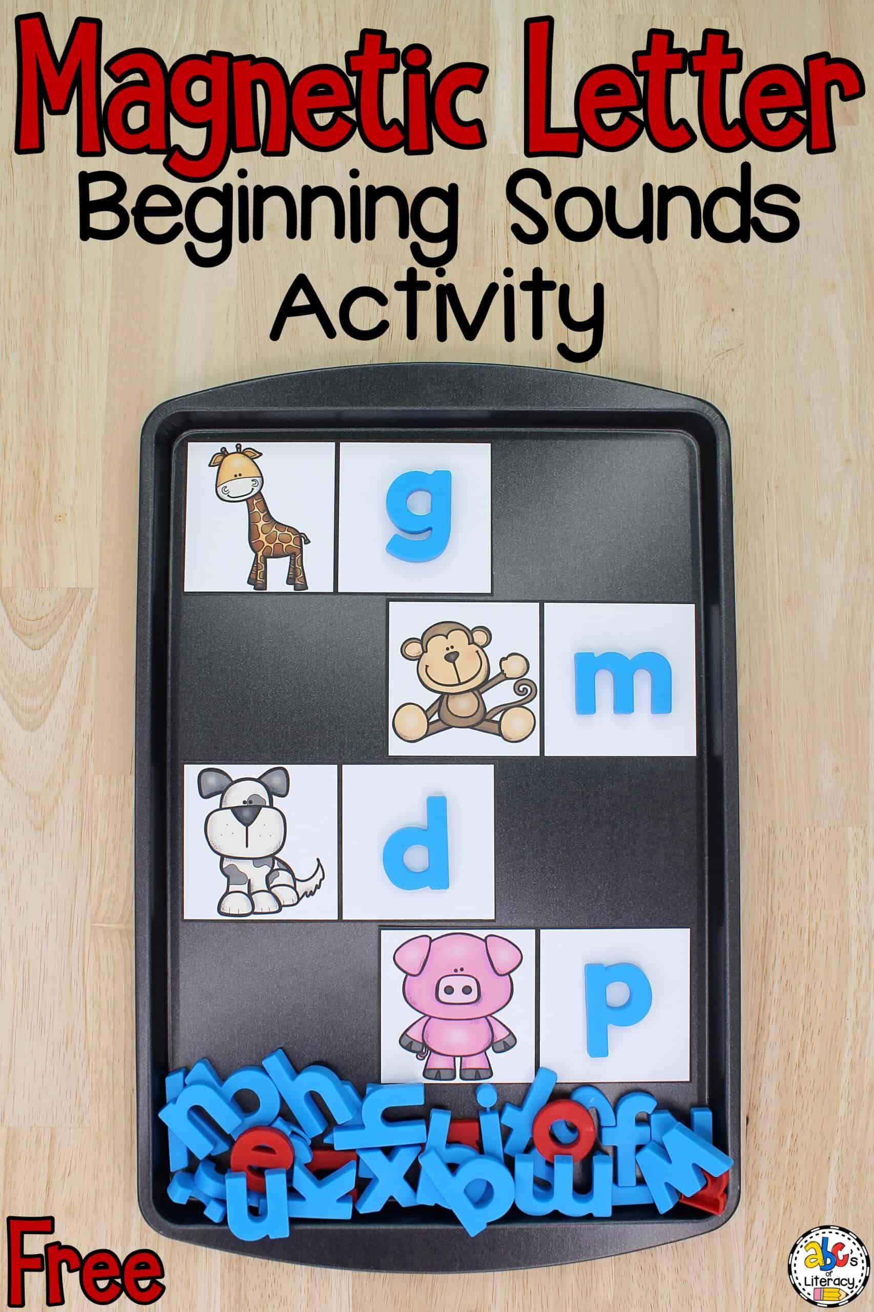 Magnetic Letter Beginning Sounds Activity For Beginning