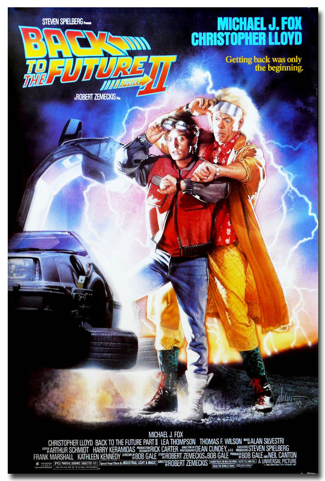 6 99 Back To The Future Part 2 Classic Movie Art Silk Poster