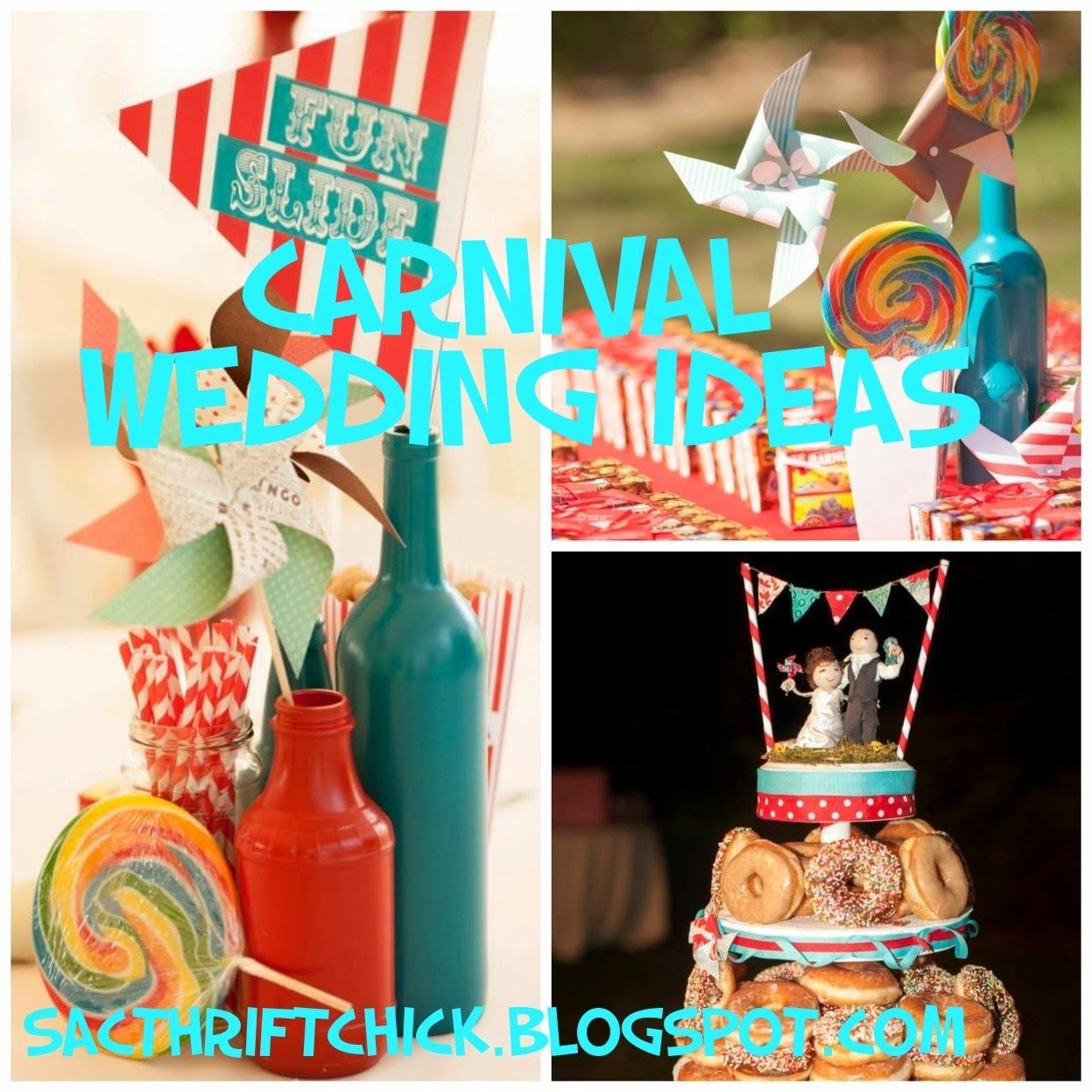 Great DIY Carnival Wedding Ideas Pinwheels Pennants Games Cotton Candy And