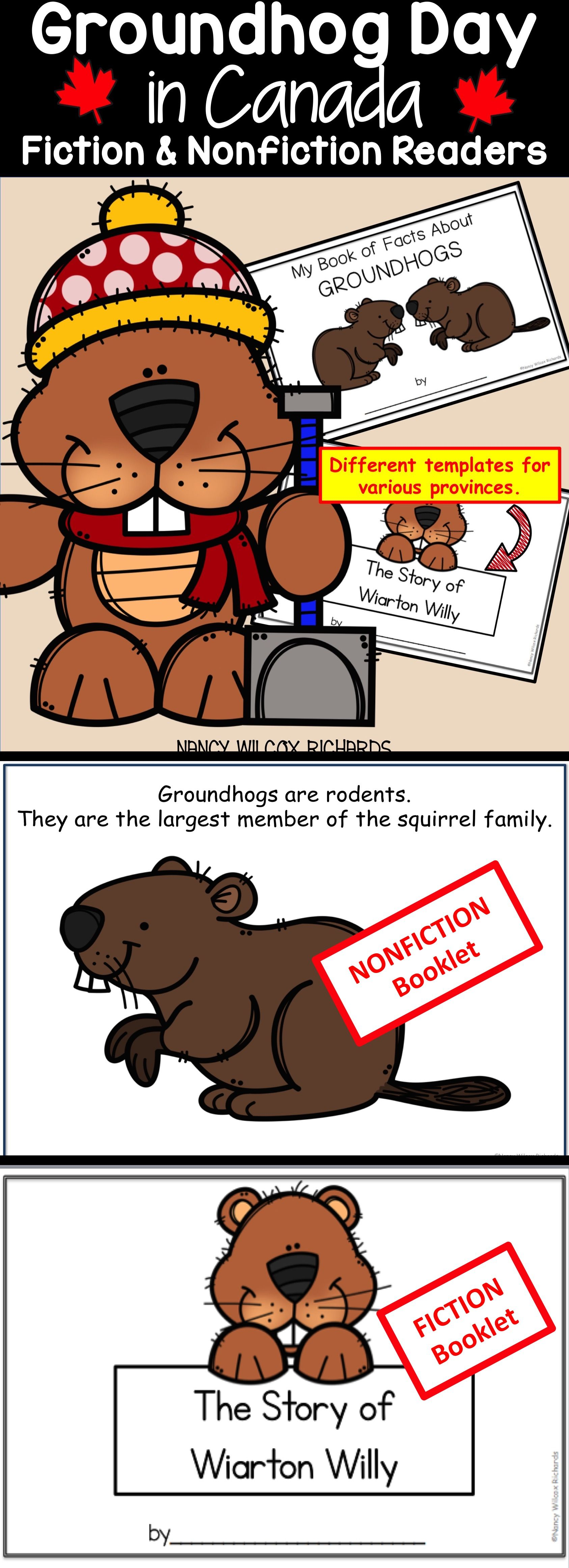 Groundhog Day In Canada Literacy Activities Fiction And