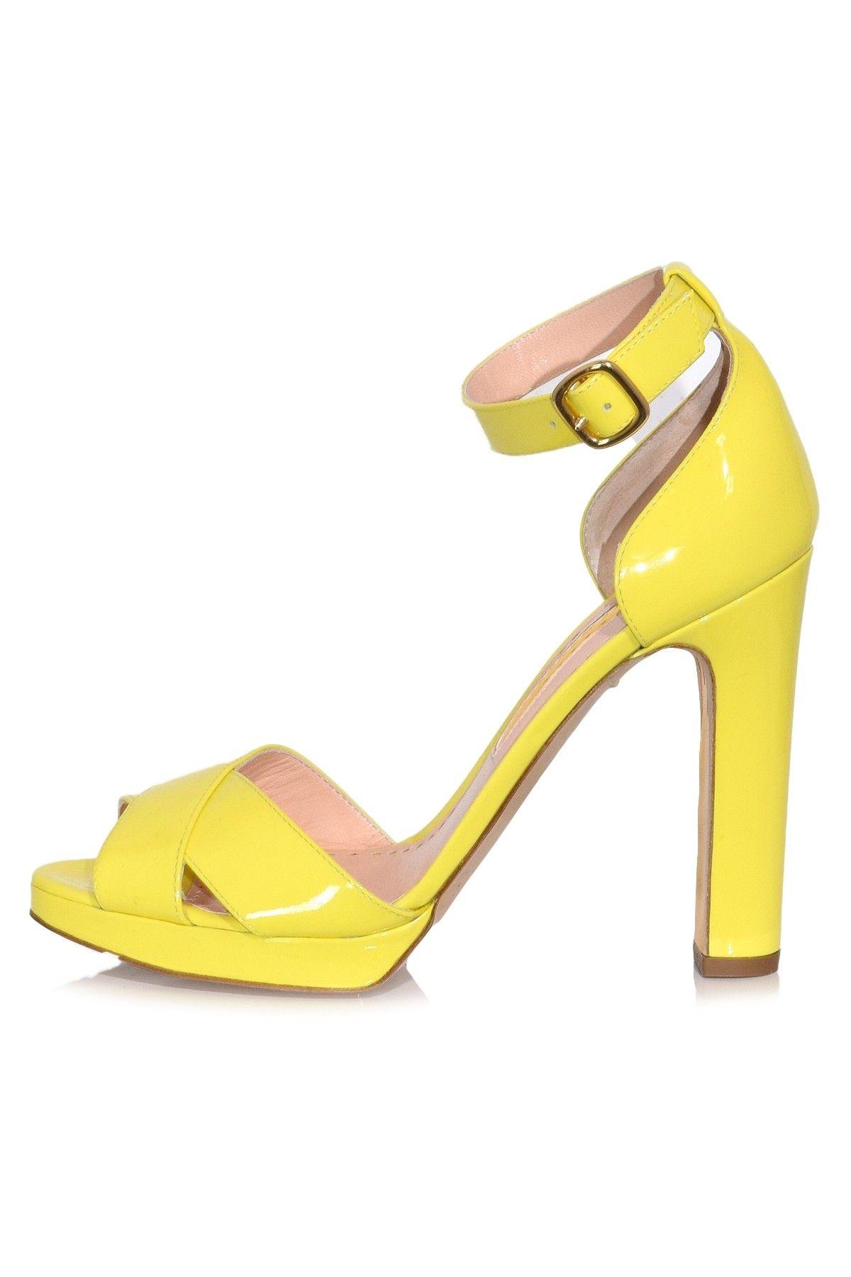 2a1b3f130 Meadow Patent Heel in Citrus in 2019 | Hampden Shoes | Patent heels ...