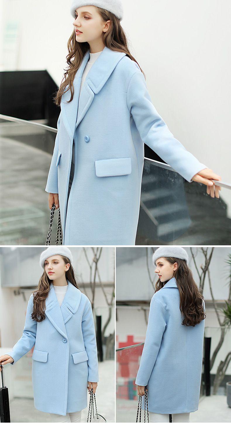 12bd376de136 Gorgeous Women's Winter Coat In Sky Blue   fashion, hair, beauty ...