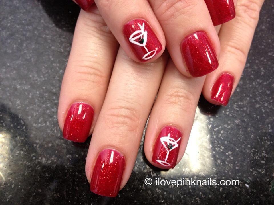 Martini Nails | Nail Art Community Pins | Pinterest | Martini nails ...