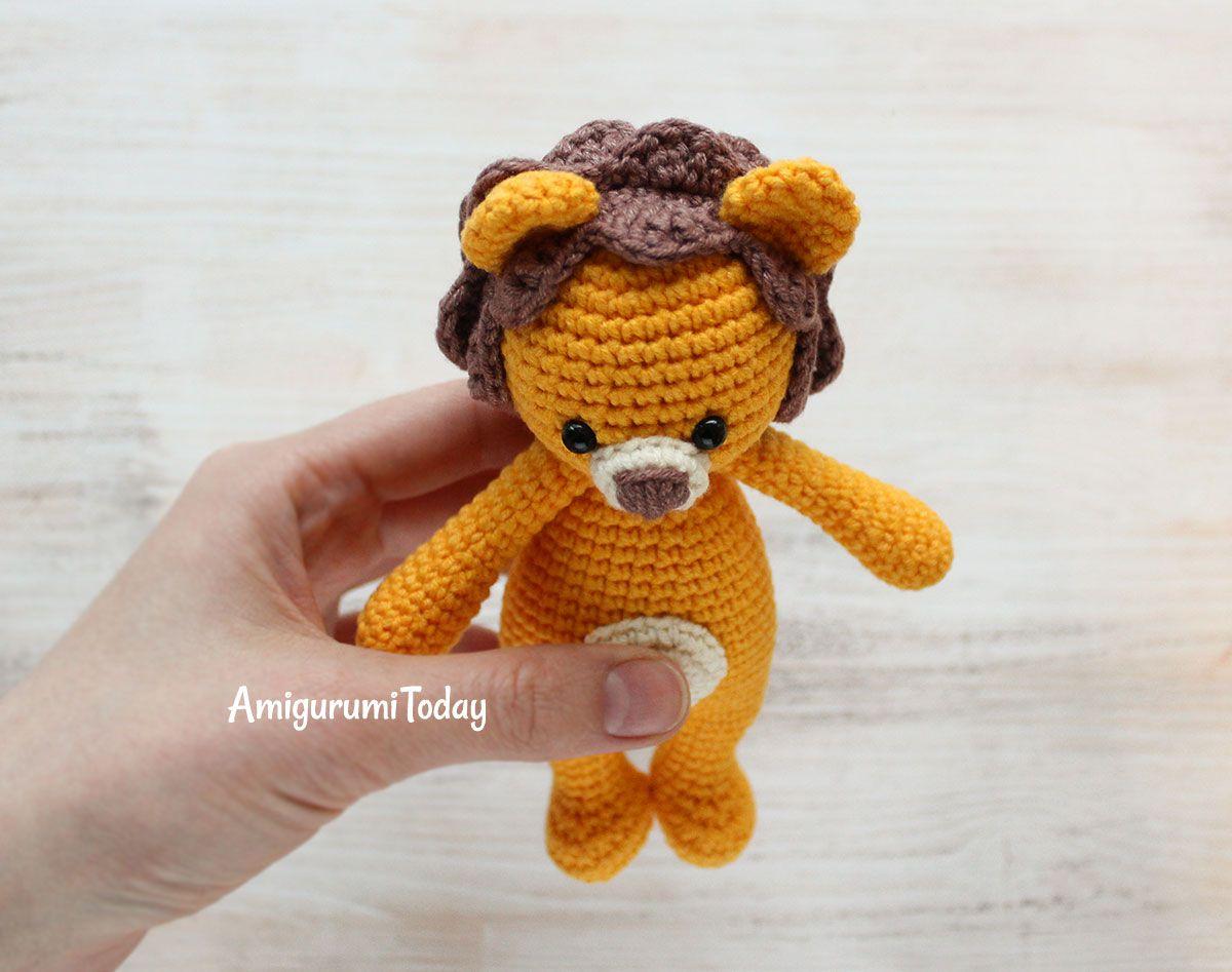 Amigurumi Lion Free Pattern : Crochet cuddle me lion free amigurumi pattern amigurumi toys