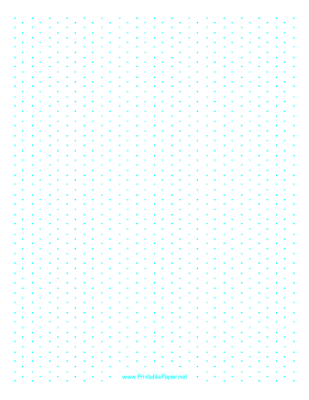 This LetterSized Isometric Dot Paper Has QuarterInch Spacing