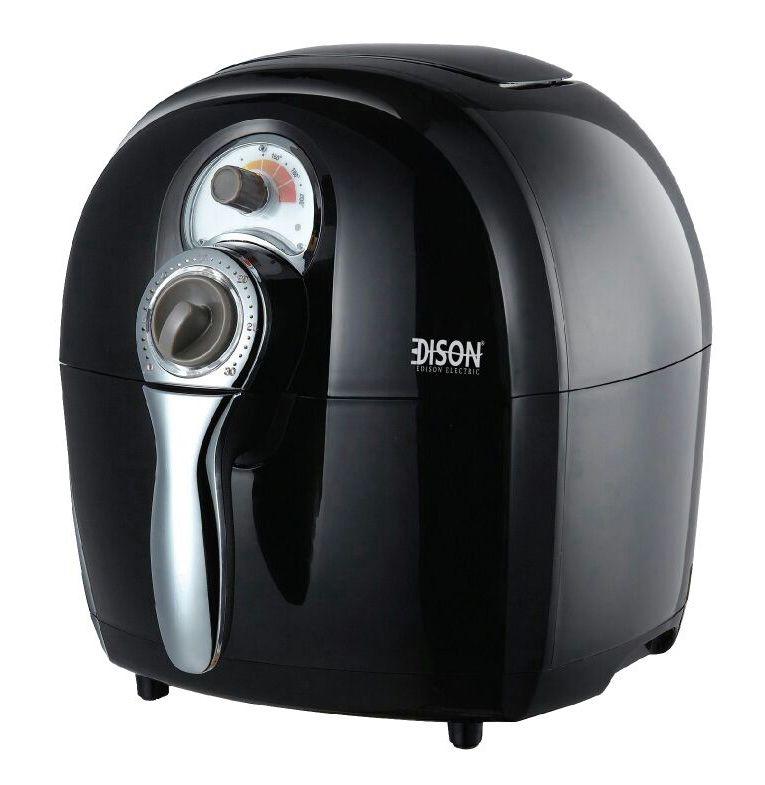 قلايه كهربائية Edison بدون زيت لون اسود قلي بطريقة التسخين الحراري فلتر هوائي توقيت آلى لمدة 30 دقيقة السعة Kitchen Appliances Good Healthy Recipes Appliances