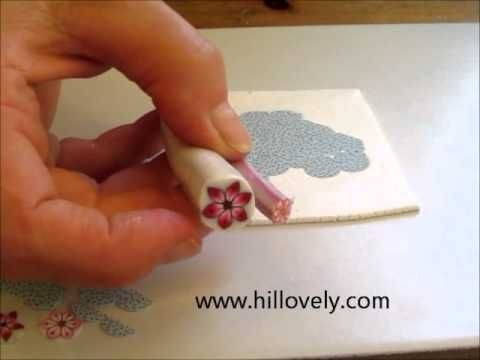 Cutting ultra thin cane slices with a knife.