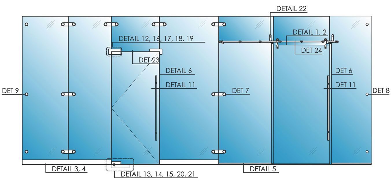 Freestanding glass walls partitions avanti systems usa