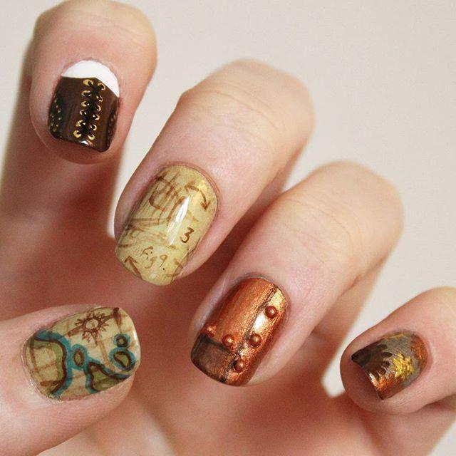 Steampunk nails! #nailart #steampunk #steampunknails #nailsnails ...