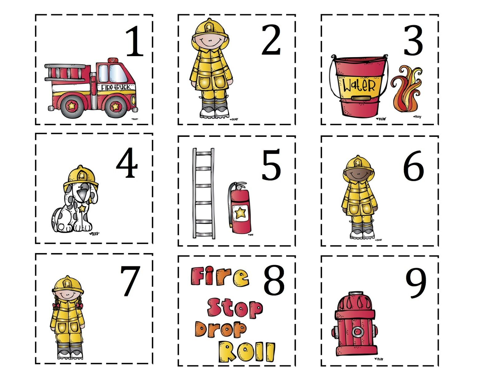 Preschool Printables Fire Safety