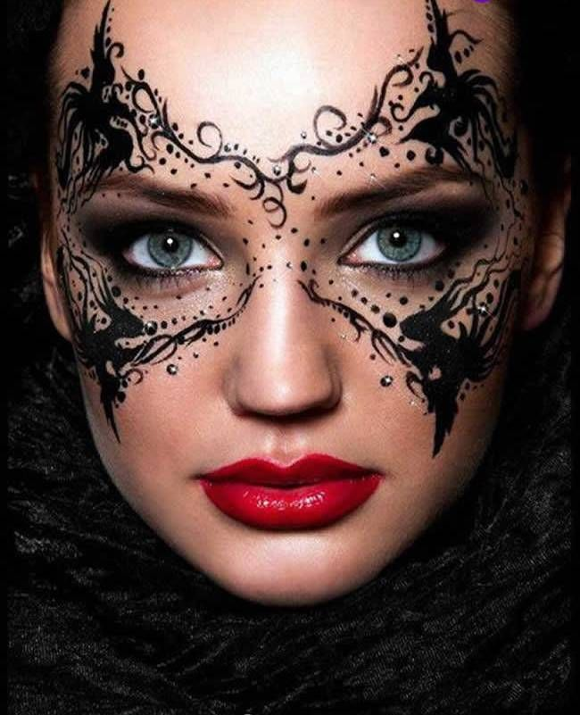 20 Halloween Mask Makeup Ideas