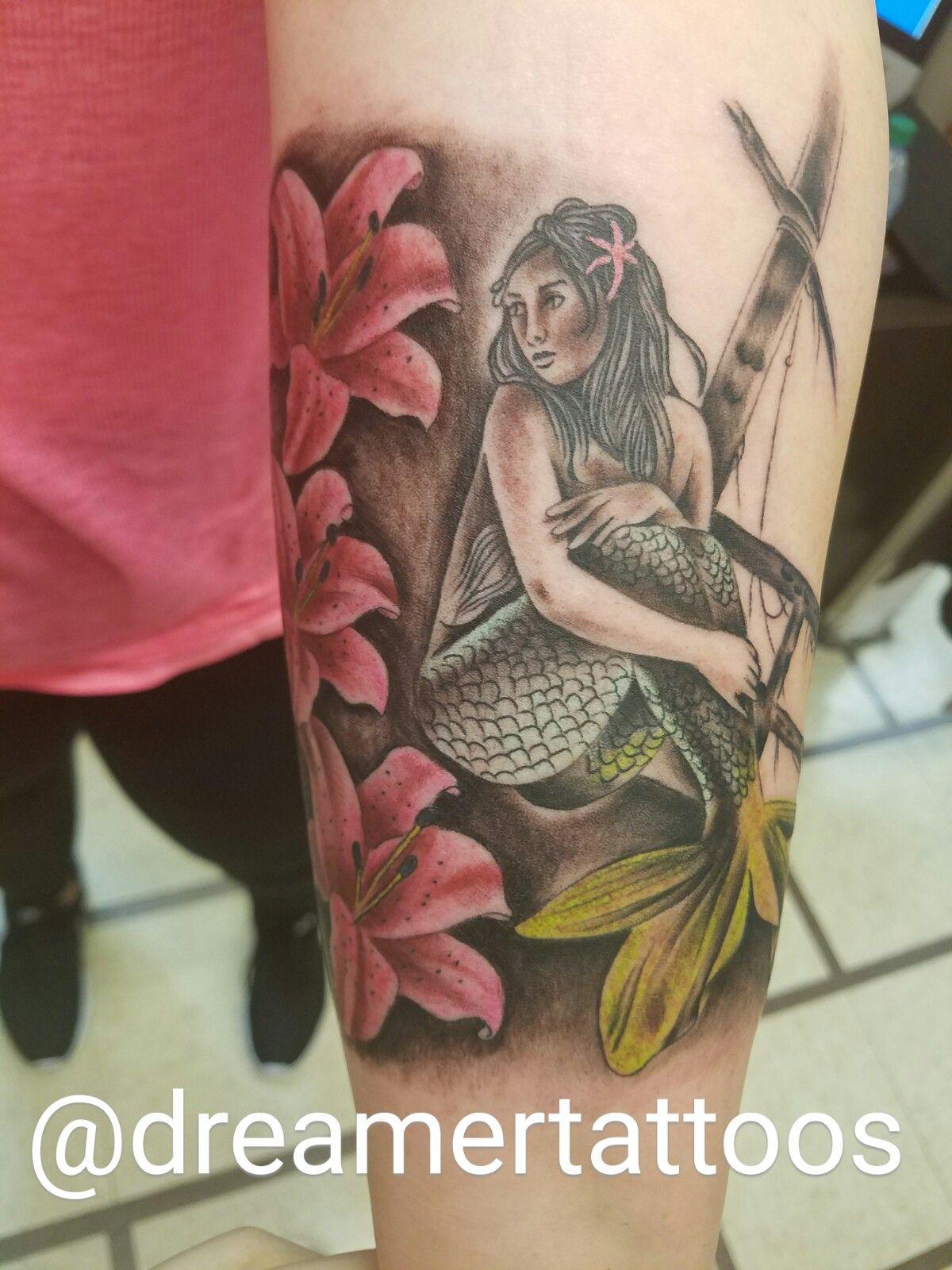color mermaid tattoo | color tattoos | Pinterest | Colors, Mermaids ...