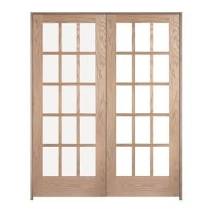 Jeld Wen Woodgrain 10 Lite Unfinished Oak Double Prehung Interior French Doors 6705 Wooden French Doors Prehung Interior French Doors Louvered Interior Doors