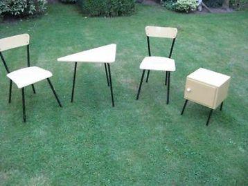 Marktplaats Tafel Stoelen : ≥ retro vintage tafel stoelen en kastje antiek meubels