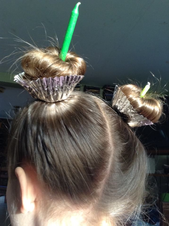 Gah This Is So Cute For Crazy Hair Day At School Or A Birthday Party Looks Pretty Simple Wacky Hair Days Crazy Hair Day At School Wacky Hair