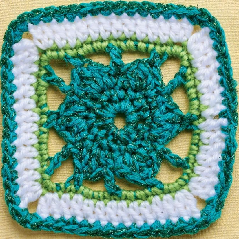 Sparkle flower granny square ~ free pattern ᛡ | patterns ...