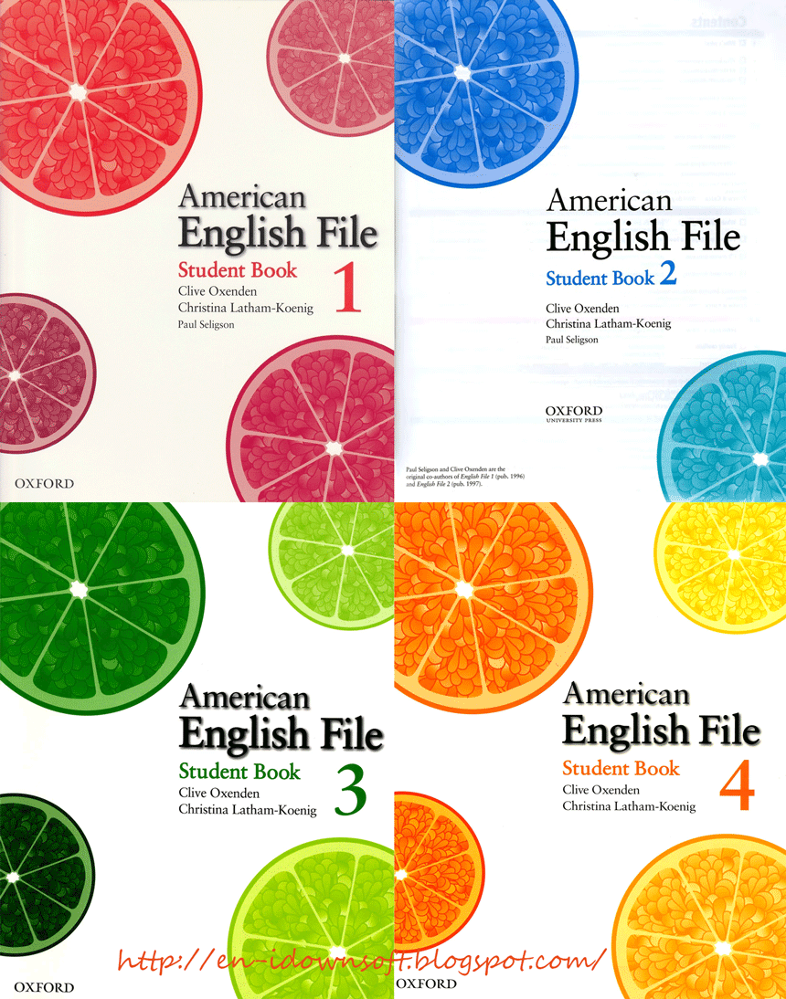 American English File Starter 1 4 Books Cds