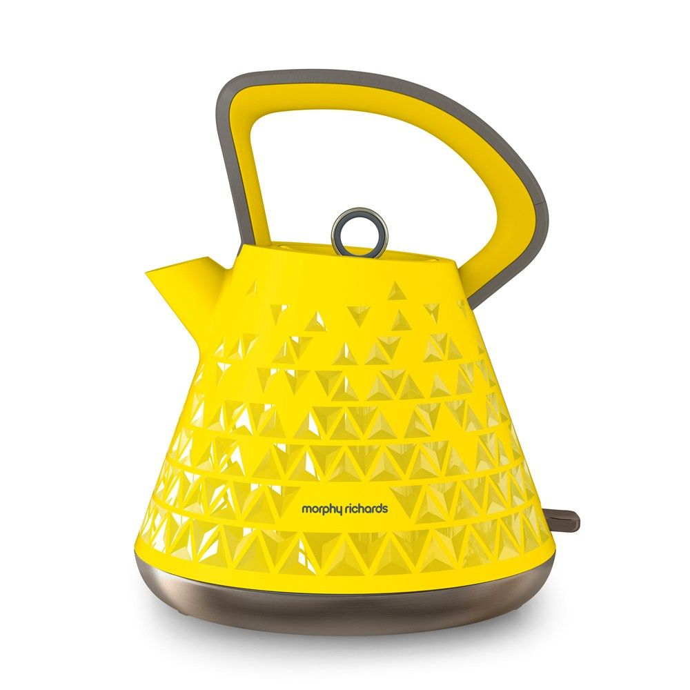 Prism 108108 Kettle In Yellow By Morphy Richards Kitchen Liances