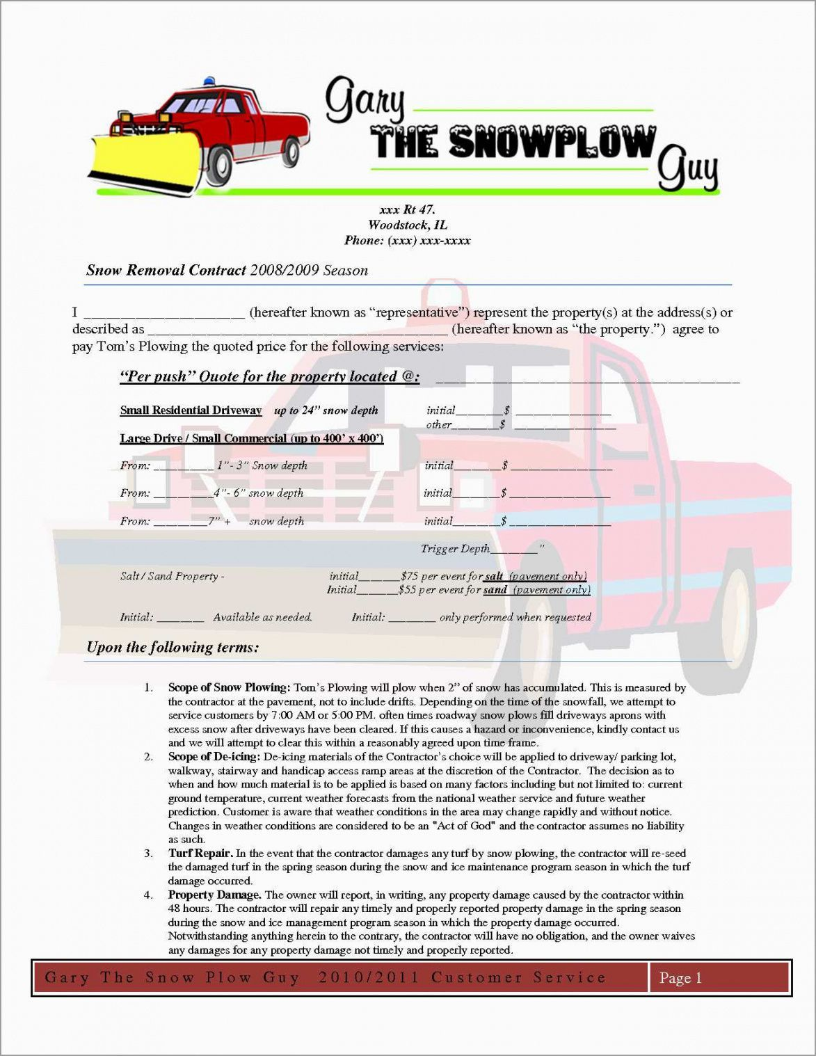 Explore Our Image Of Snow Removal Invoice Template Invoice Template Snow Removal Snow Removal Contract
