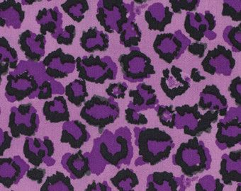 Purple Leopard Print Fabric