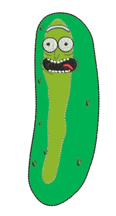 Free Embroidery Design Pickle Rick Embroidery Designs Embroidery Free Machine Embroidery Designs