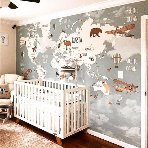 11 Stylish Nursery Wallpaper Ideas That Might Convince You To
