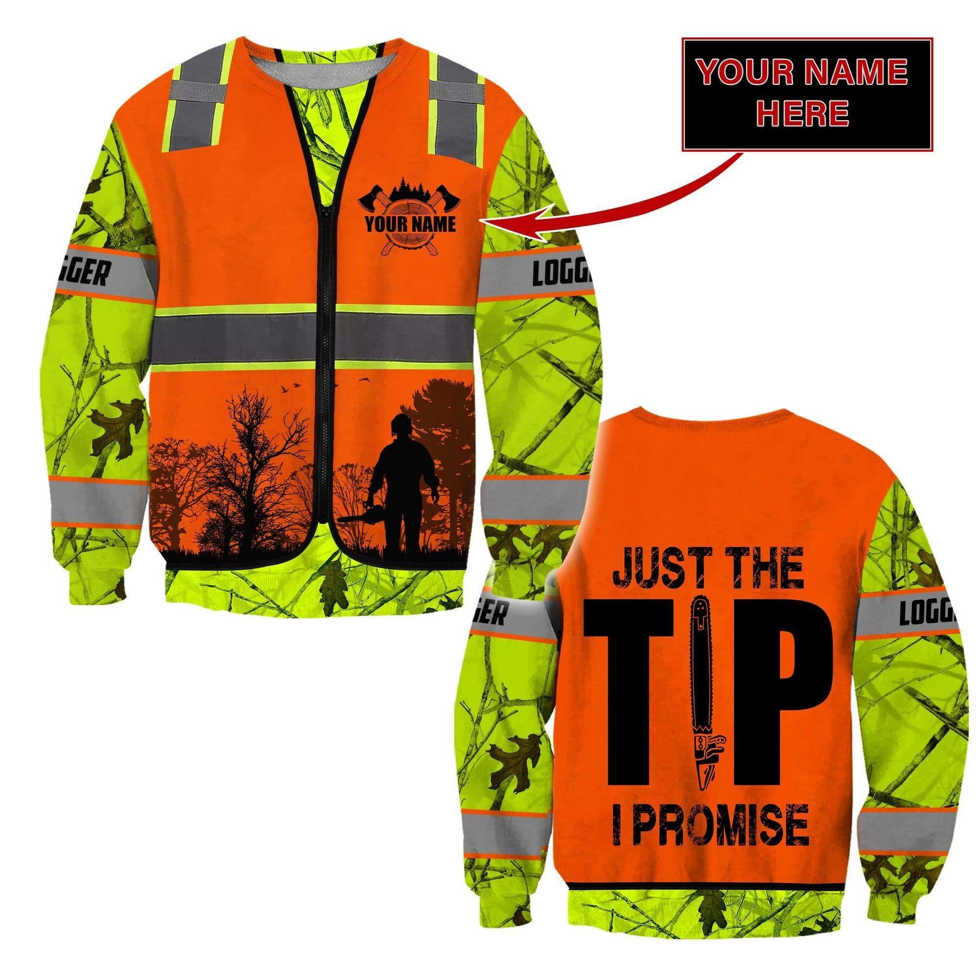 3D Chainsaw Logger Custom Name Unisex Shirts - Sweater / XL