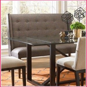 Curved Dining Room Settee. Dining Bench With BackUpholstered ...