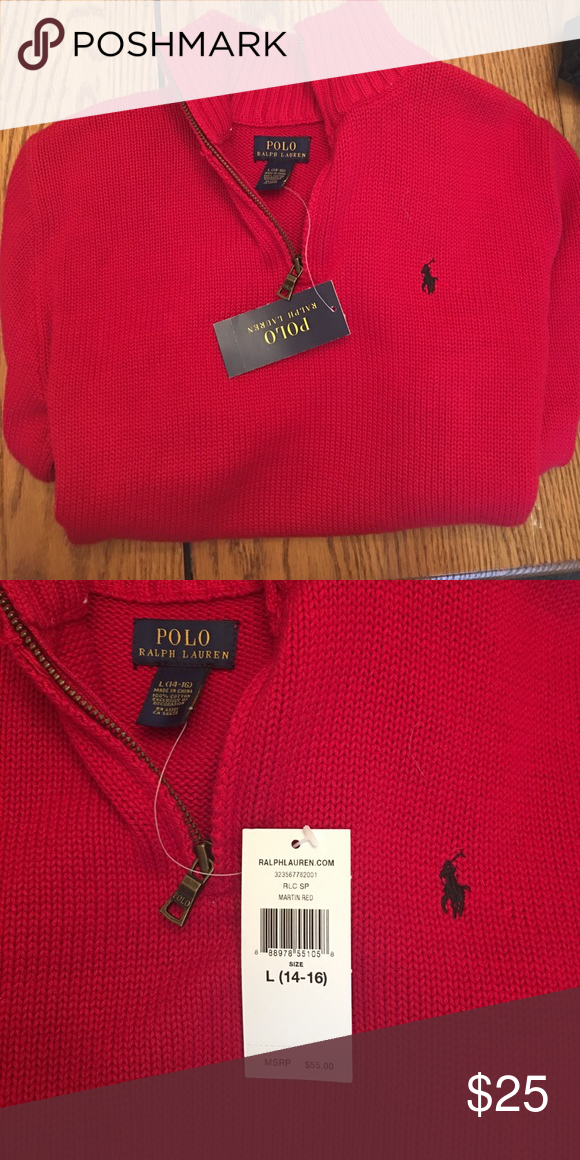Sweater 16 14 TagsSize New Ralph With Red Polo L By Brand shrCtQxd