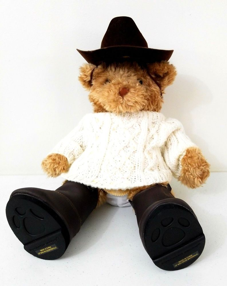 0038a285779 Cowgirl with Brown Cowboy Boots Build a Bear White Sweater and Skirt Plush  Toy  BuildABearWorkshop  AllOccasion