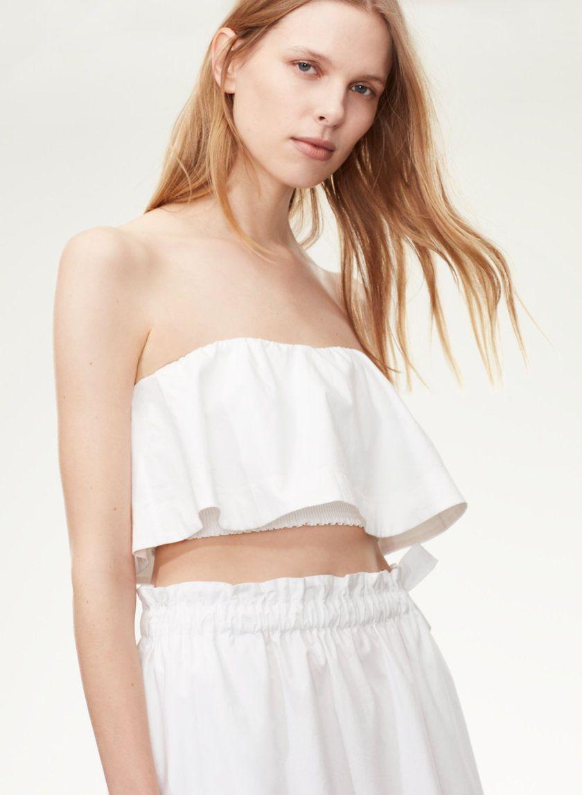 51dfbcb02e Bonaventure blouse   • Aritzia •   Blouse, Crop tops, Cotton