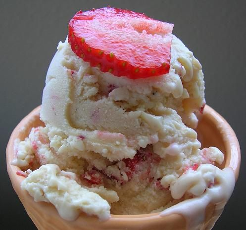 Strawberry Mascarpone Ice Cream