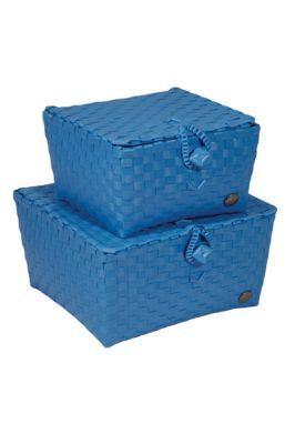 Aufbewahrungskörbe Mit Deckel aufbewahrungskorb m deckel pisa blau wäsche bad