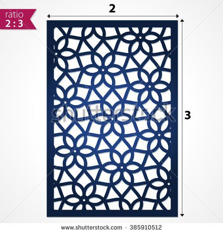 Abstract laser cut pattern background Die cut vector flower panel - fresh invitation template vector