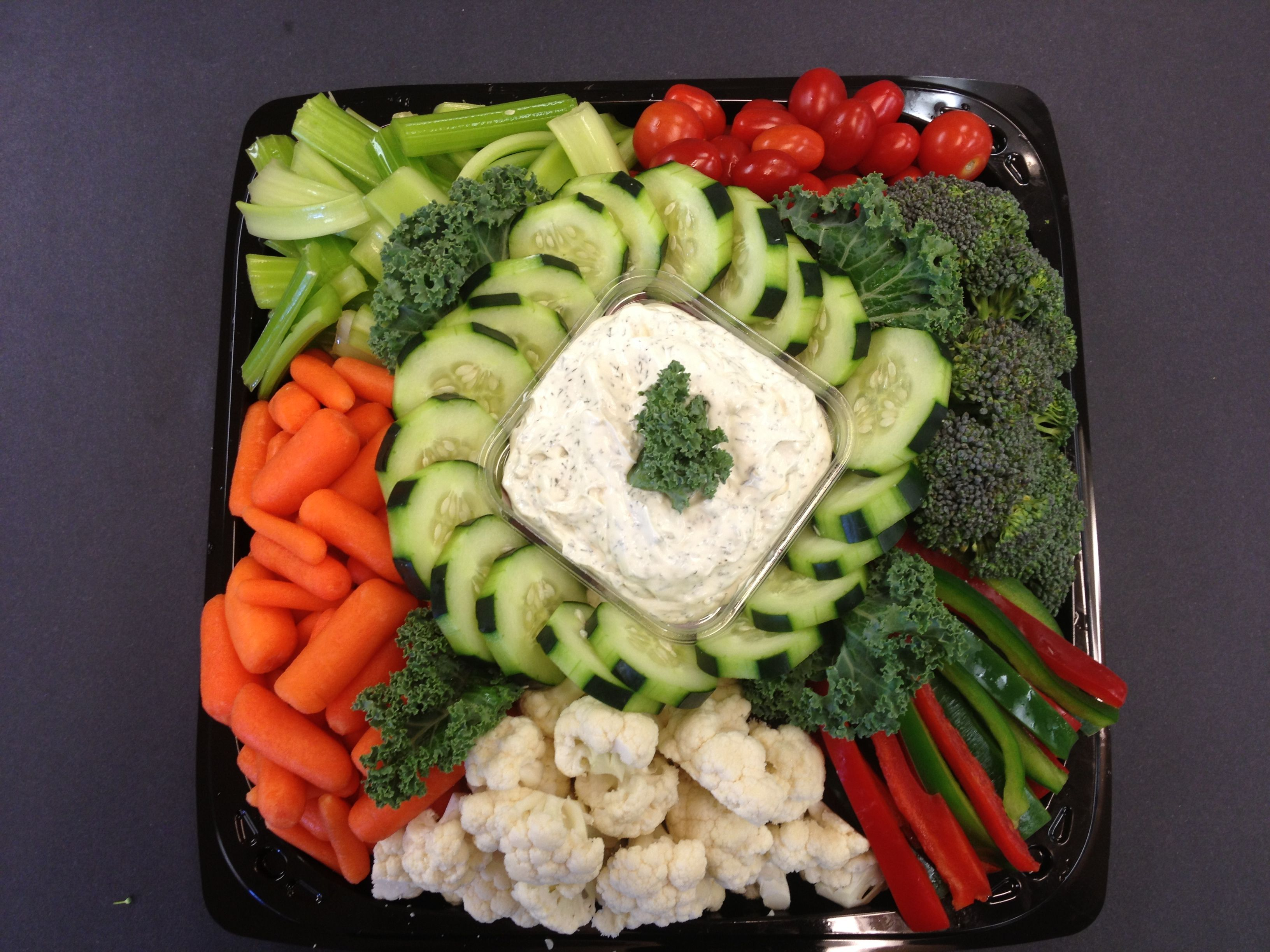 Fresh vegetable trays with dill dip food pinterest comida