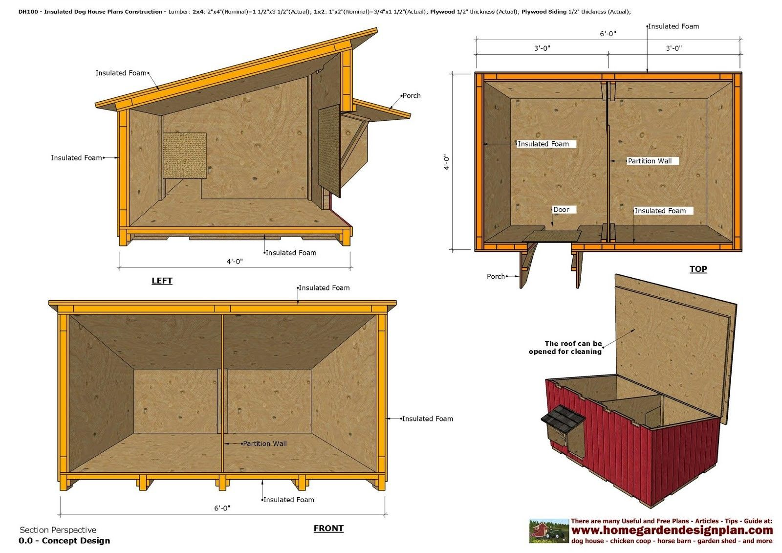 Insulated Dog House Building Plans Inspirational Home Garden Plans Dh100 Insulated Dog House Plans D Dog House Plans Insulated Winter Dog House Dog House Plans