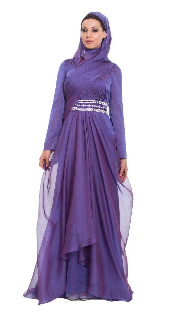 Purple Silk Formal Dresses
