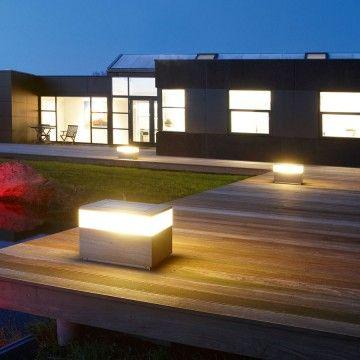 king teak outdoor floor lamp by delta light modern outdoorlighting
