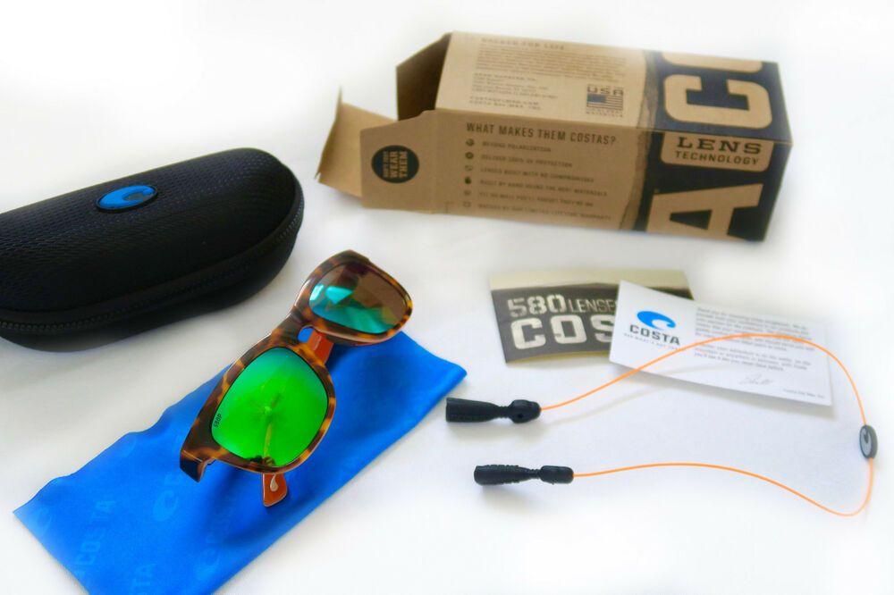 5c02fdb63c4 Costa Copra Sunglasses Tortoise Frame Green Mirror 580G Glass Polarized Lens   fashion  clothing