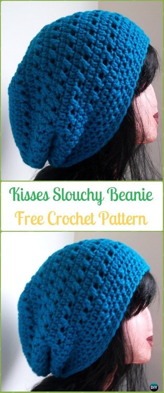 Crochet Kisses Slouchy Beanie Free Patterns -Crochet Slouchy Beanie ...