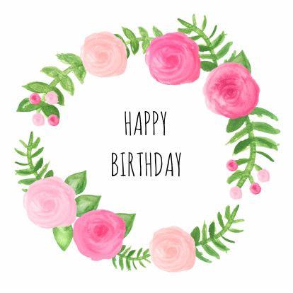 mooie verjaardagskaart met rozen en blaadjes verkrijgbaar bij